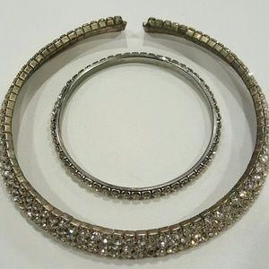Vintage rhinestone collier and bangle